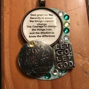 Let go let god dog tag